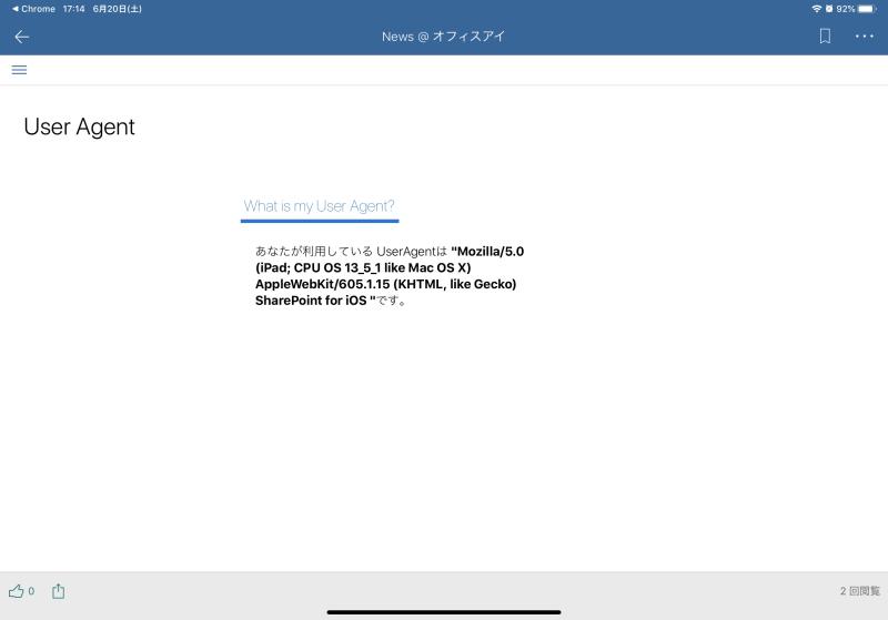 UserAgent-iPad