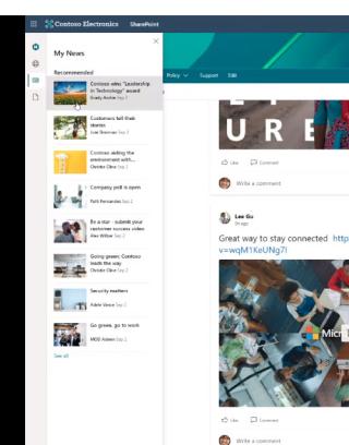 App bar - news
